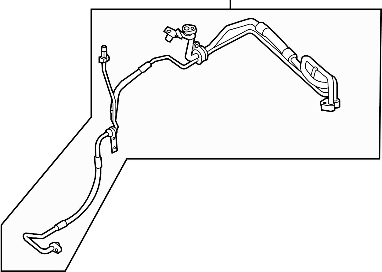 Ford Police Interceptor Utility Tube assembly. 3.7 liter
