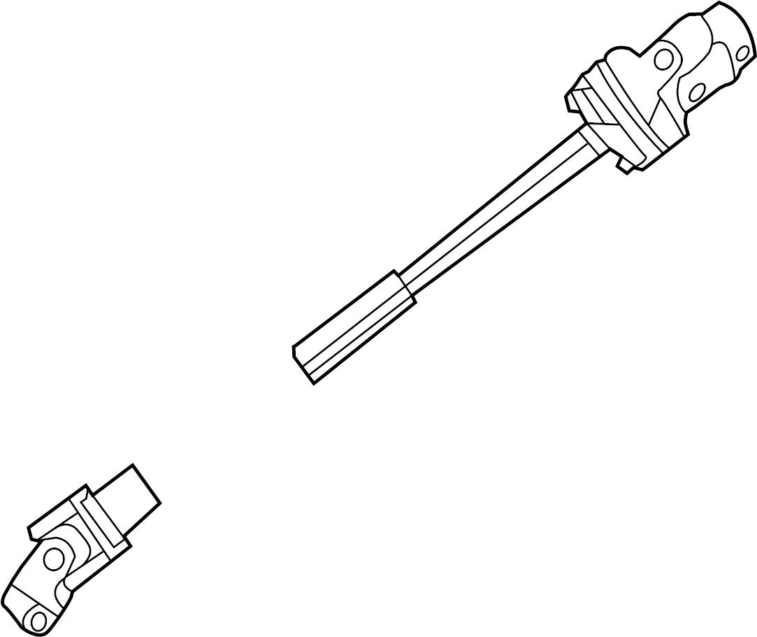 Ford Explorer Shaft assembly. Column, wpower, tilt