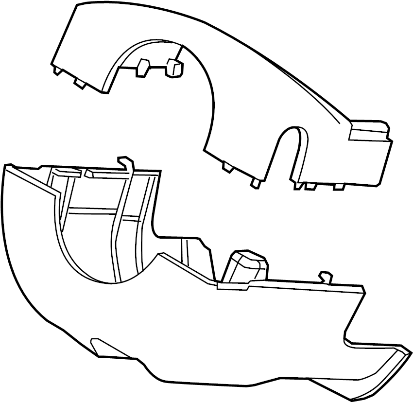 Ford Police Interceptor Utility Steering Column Cover