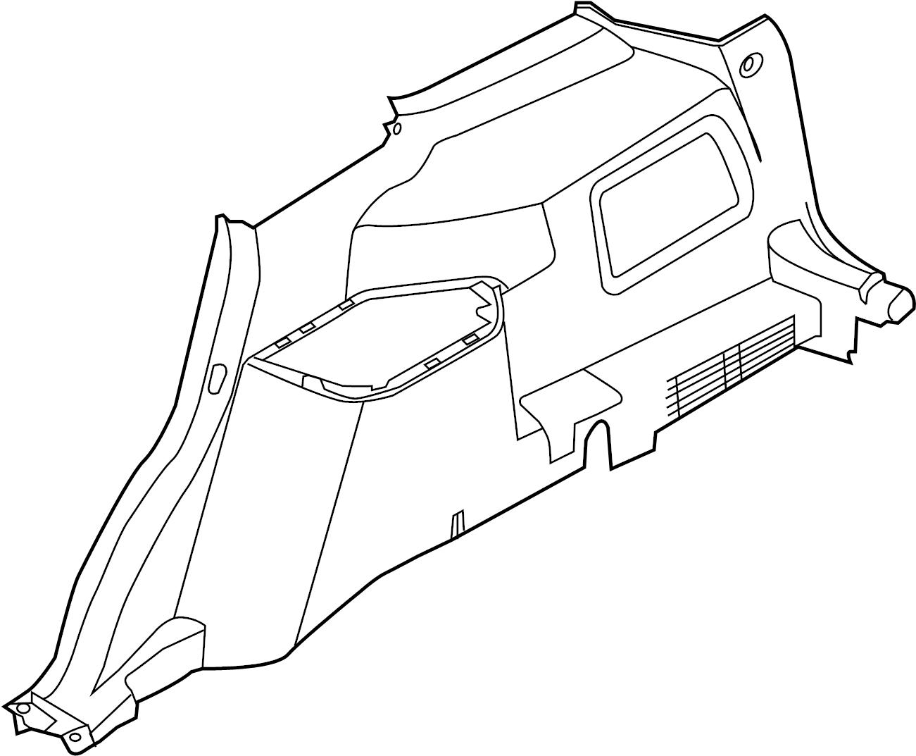 Ford Explorer Interior Quarter Panel Trim Panel Rear