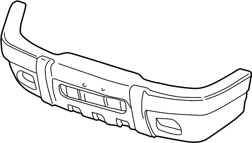 1999 Ford Explorer Bumper Cover (Upper). 1999-01, Limited