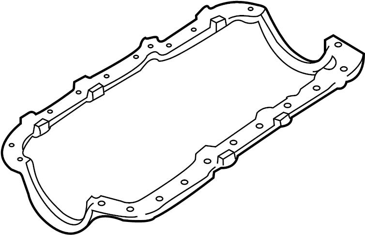 Ford Explorer Engine Oil Pan Gasket (Upper, Lower). LITER