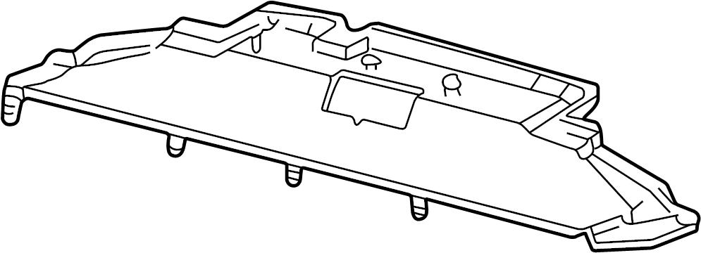 2002 Ford F-250 Super Duty Deflector. Air. 5.4 LITER