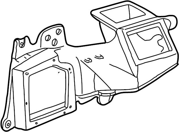 Ford F-250 Super Duty Hvac unit case. Manual ac. Heater