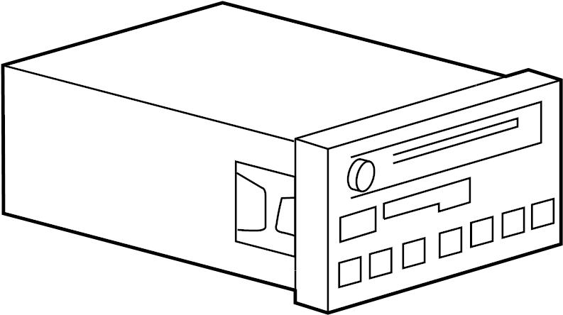 Ford Ranger Radio Control Unit. AM/FM cassette & CD. AM/FM