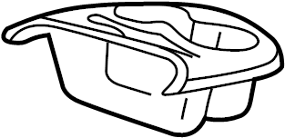 Ford F-550 Super Duty Console Cup Holder (Rear). Pebble