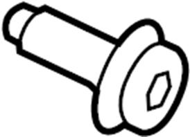 2015 Ford Transit-150 Seat Belt Lap and Shoulder Belt Bolt