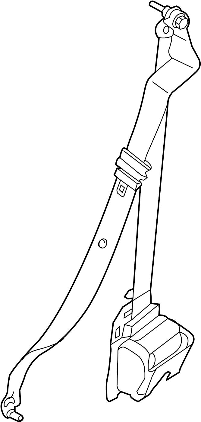 Ford Transit-250 Seat Belt Lap and Shoulder Belt (Rear