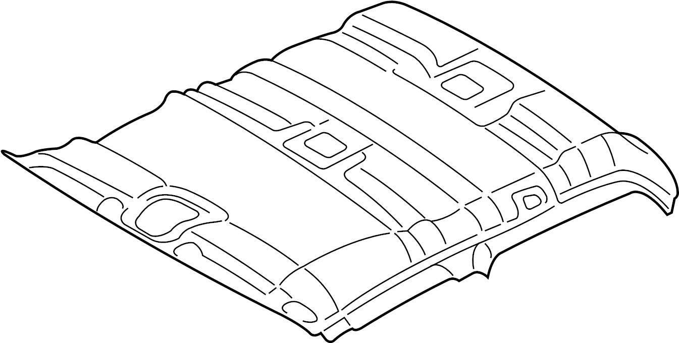 2008 Ford Explorer Sport Trac Headliner. W/O SUNROOF, w