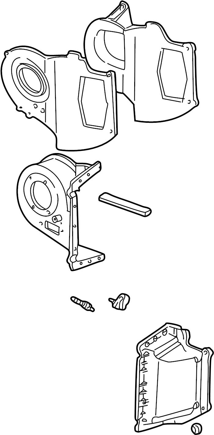 Ford Explorer A/c evaporator core case. Heater, air