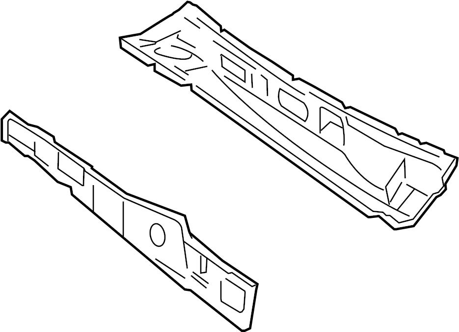 Ford Explorer Sport Trac Cowl Panel. Cowl top panel. Inner