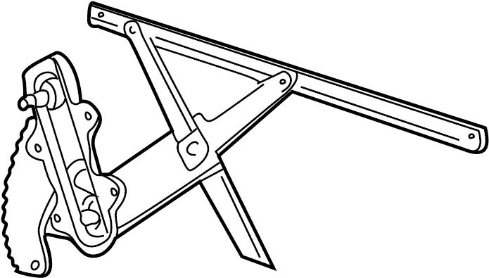 Ford Explorer Window Regulator. DOOR, GLASS, Power