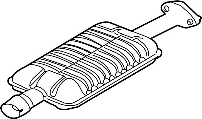 Ford Escape Exhaust Muffler. 3.0 LITER. Escape, Mariner; 3
