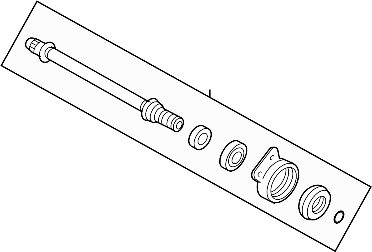 Ford Escape Cv intermediate shaft. Trans, manual, liter