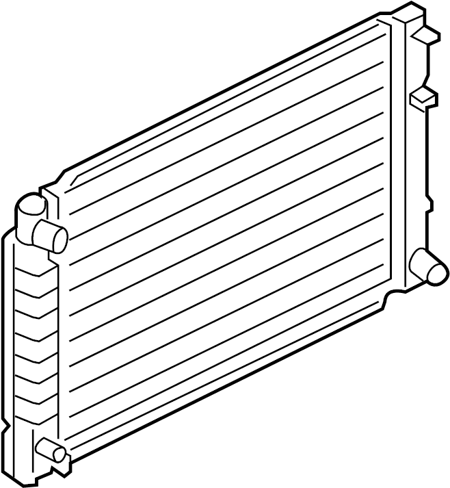 Ford Escape Radiator. Radiator Assembly. Cooling, LITER