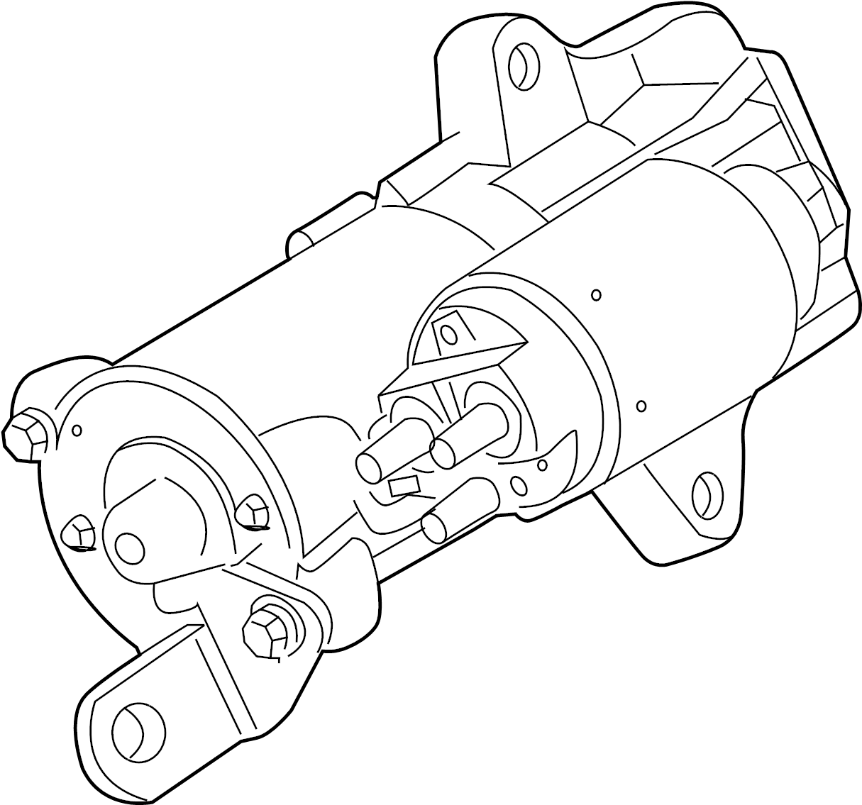 Ford Fusion Starter. Starter Is Serviced As An Assembly