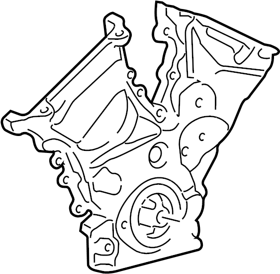 2011 Ford Fusion Engine Timing Cover (Front). Cover