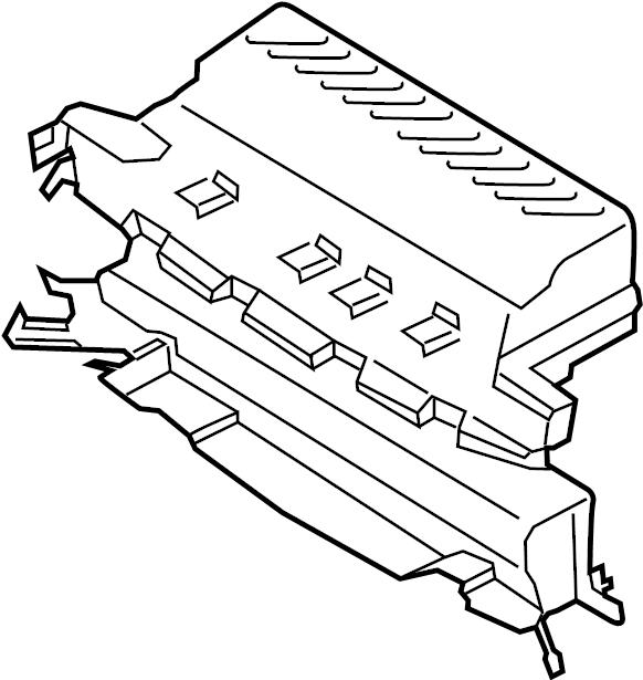 Ford Escape Housing. Radiator. Shutter. 1.6 LITER. 2.0