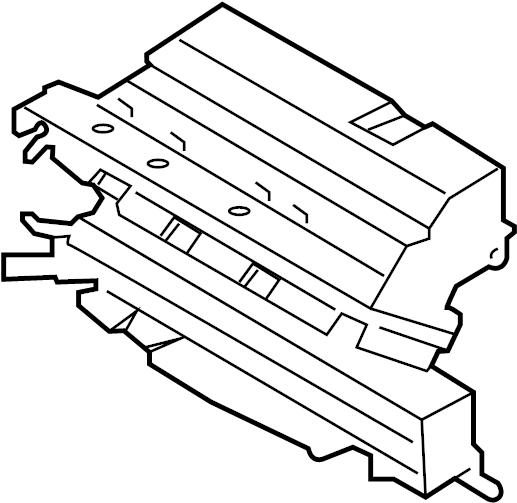 Ford Escape Radiator Shutter Assembly. 2.0 LITER, 2013