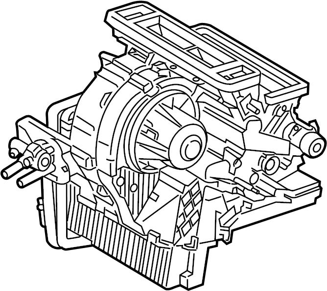 2015 Ford Escape Hvac unit case assembly. W/o dual zone ac