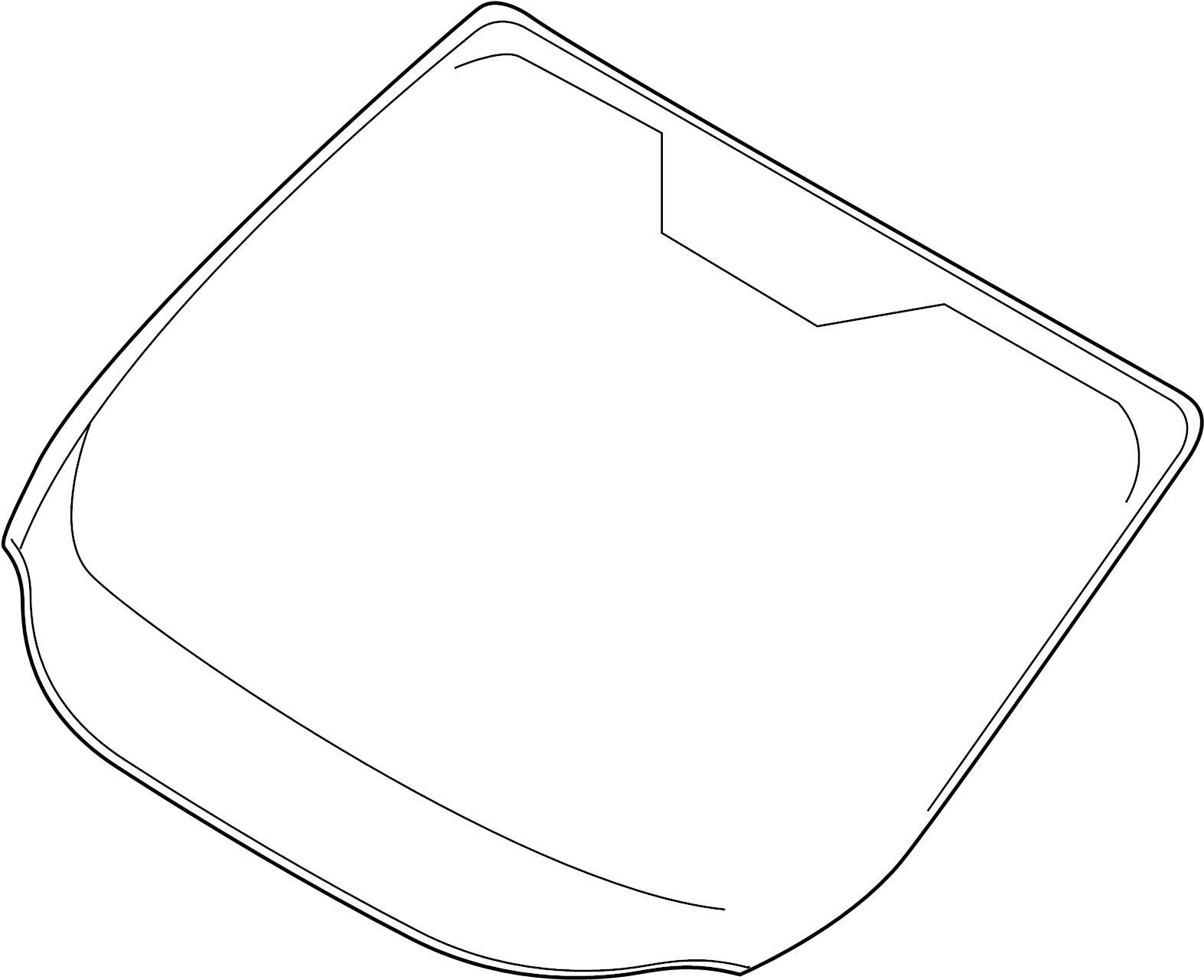 Ford Escape Windshield Glass. 2017-19, FORD, w