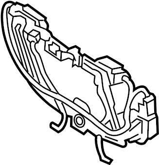 Ford Escape 12 volt accessory power outlet housing