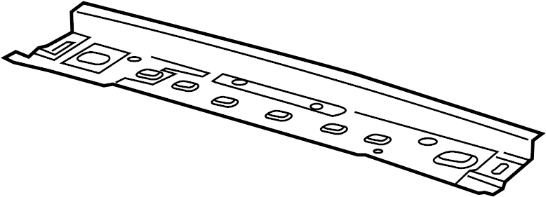 2017 Ford Roof Header Panel (Rear). SUNROOF, Front, Shield