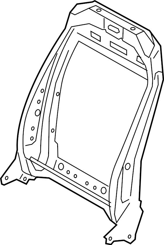 Ford Escape Seat Back Frame. MANUAL SEAT. Left