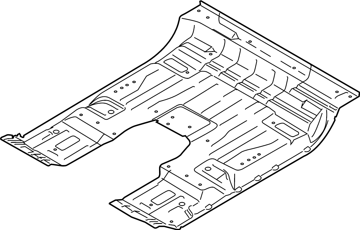 Ford F 150 Floor Pan Crew Cab Rear Outer Body