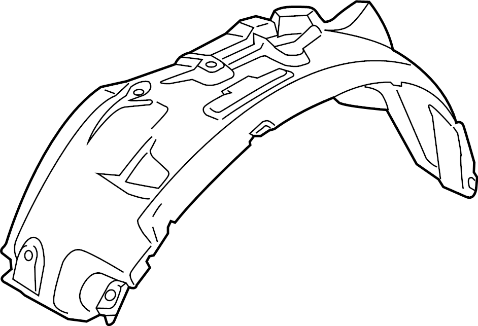 Ford F-350 Super Duty Fender Splash Shield (Front, Lower