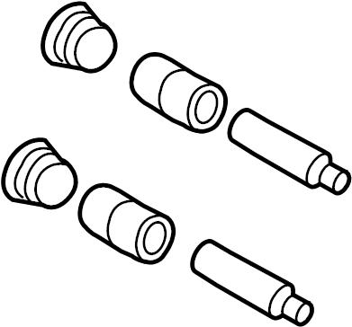 2011 Ford Escape Caliper. Kit. Mount. Pin, Brake, Liter