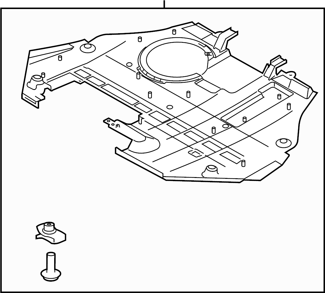 Ford Fusion Radiator Support Splash Shield (Front, Lower