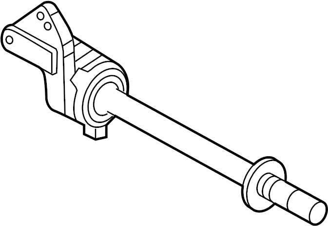 Ford Fusion Cv intermediate shaft. Axle, assembly, carrier