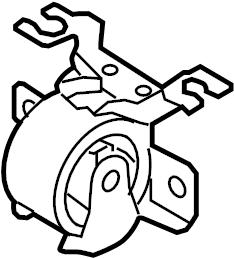 Ford Escape Mount. Transmission. Insulator. (Front). 2.3
