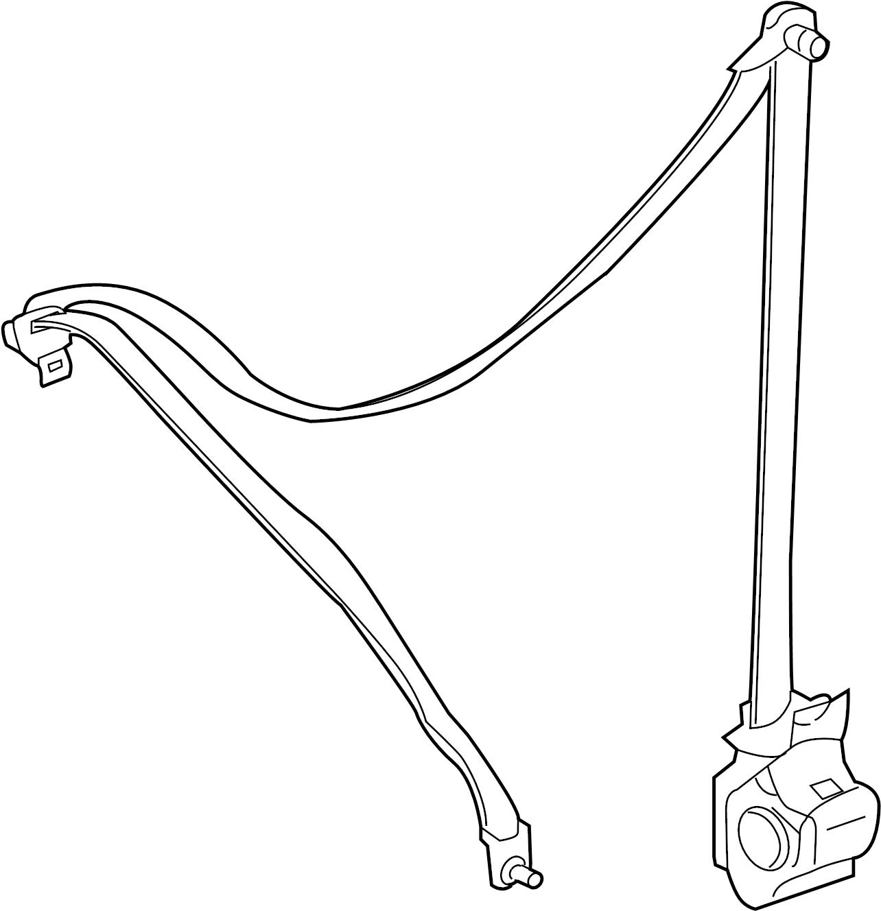 Ford Escape Seat Belt Lap and Shoulder Belt. Charcoal