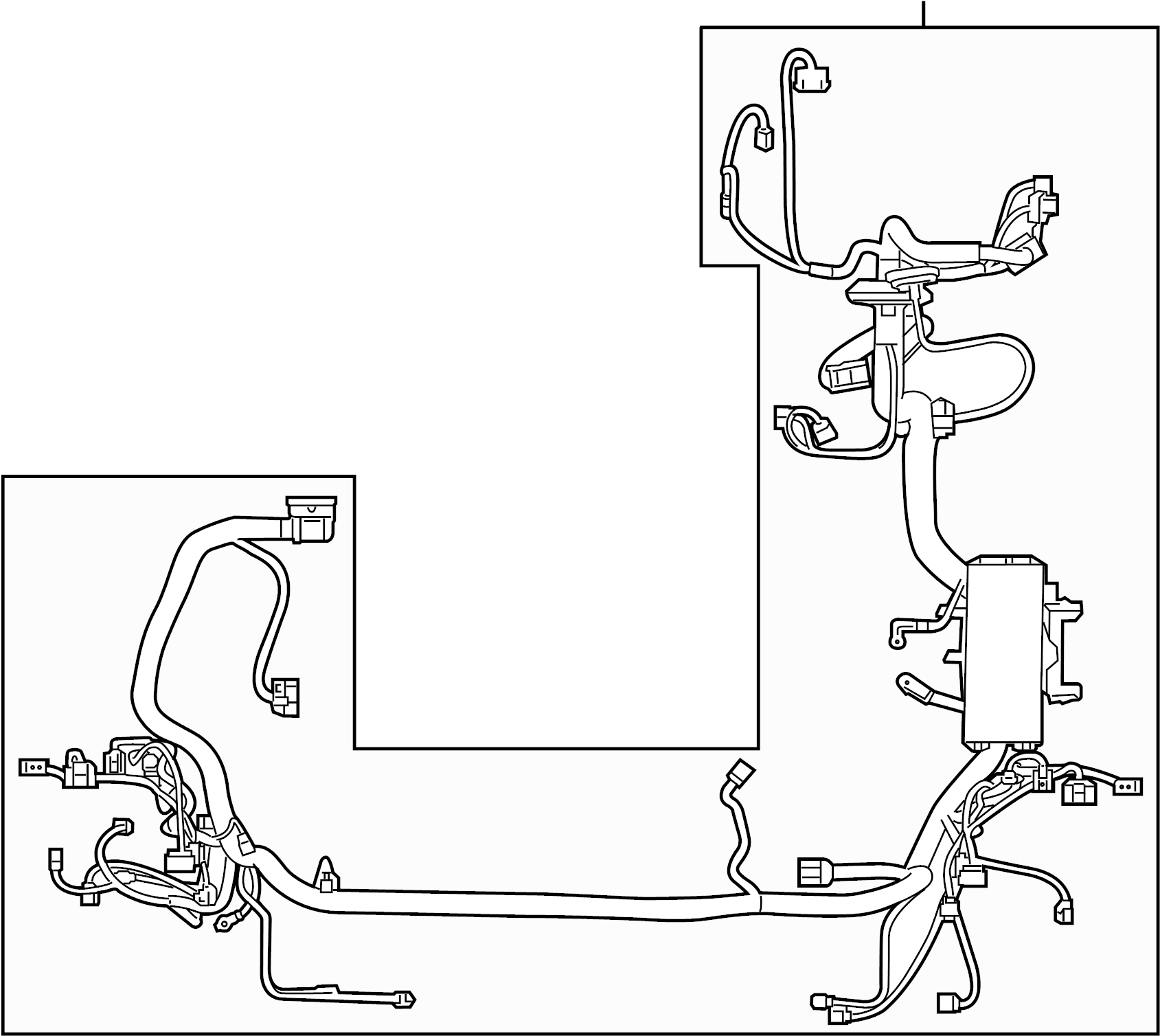 Ford Edge Engine Wiring Harness. Compartment, Trailer, Pkg