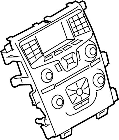 Ford Edge Hvac temperature control panel (lower). Heated
