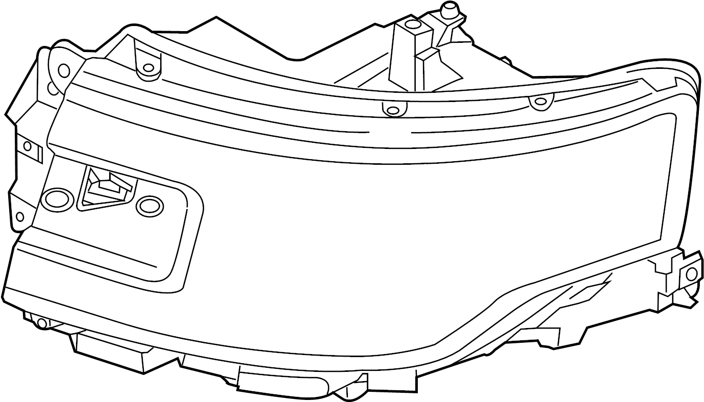 Ford Flex Headlight. 2013-19, W/HID LAMPS. Flex; Left; w