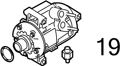 2010 Ford Flex Valve. Relief. PRESSURE. LITER, Compressor