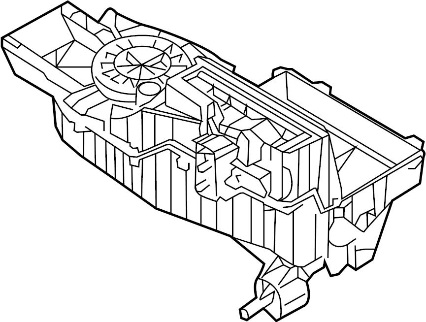 Ford Explorer Evaporator. Case. (Lower). Heater, DUAL