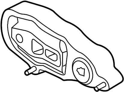 Ford Police Interceptor Sedan Engine Support Rod. HOUSING