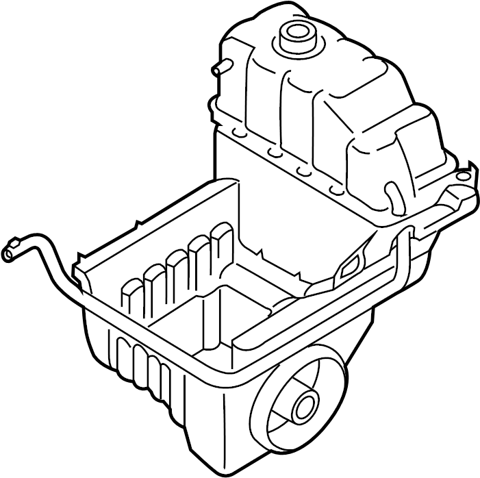 2013 Ford F-150 Air Filter Housing (Lower). LITER, Tray