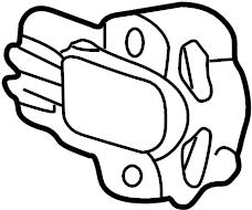 Ford E-150 Econoline Throttle Position Sensor. LITER
