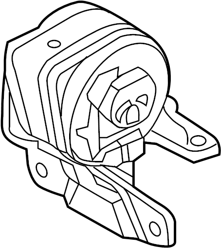 Ford Edge Automatic Transmission Mount (Front). LITER