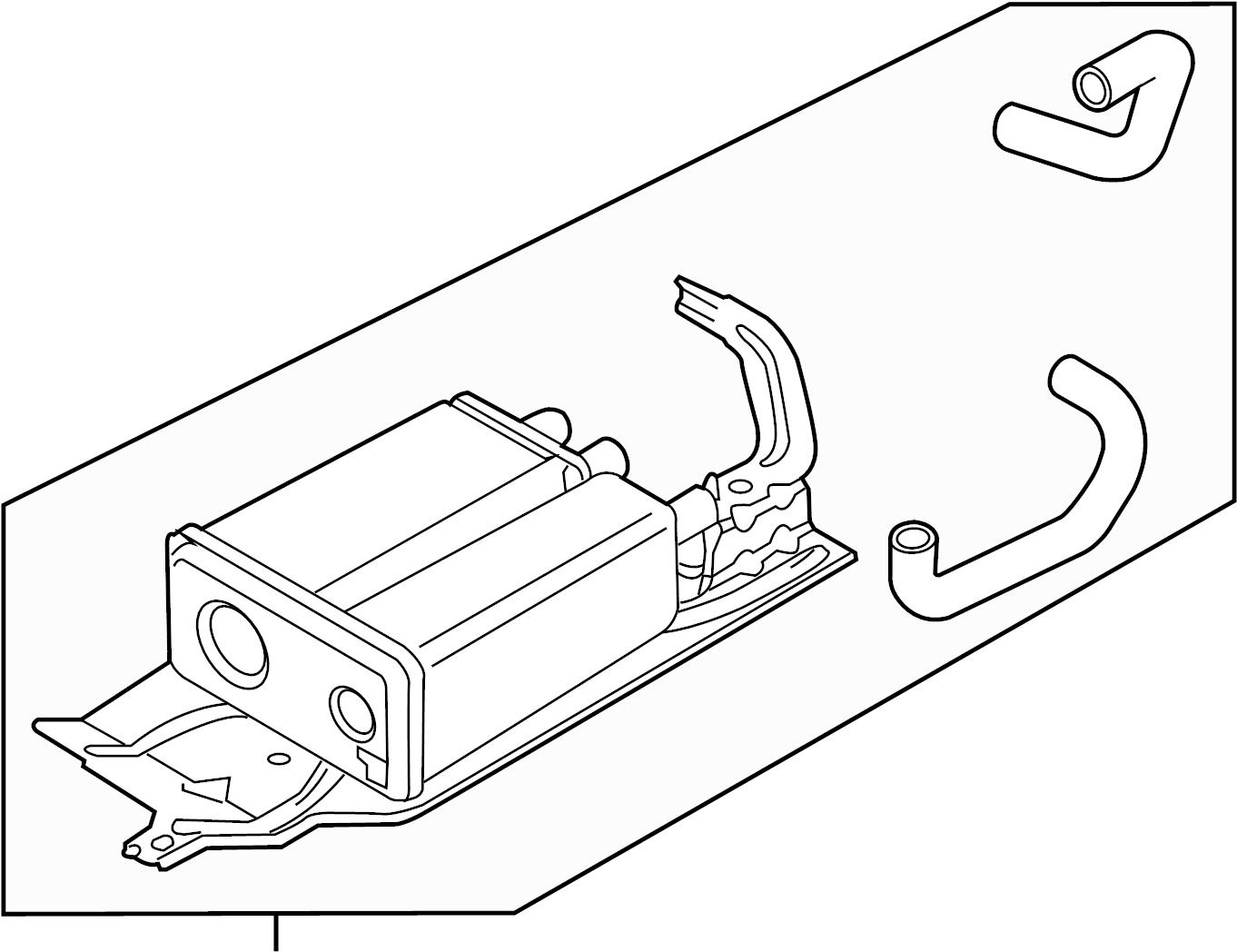 Ford Edge Vapor Canister. LITER, EMISSION, Evaporative