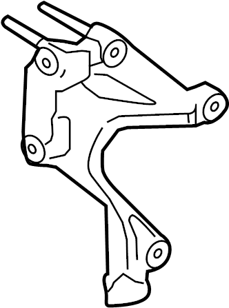 Ford Fusion Cv axle shaft carrier bearing bracket. Liter