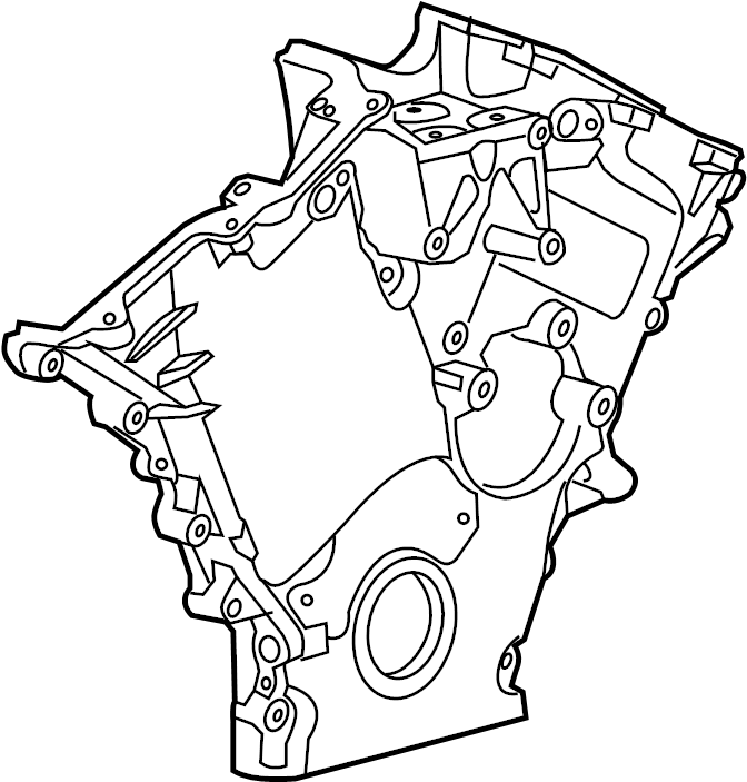 2011 Ford Fusion Engine Timing Cover (Front). LITER