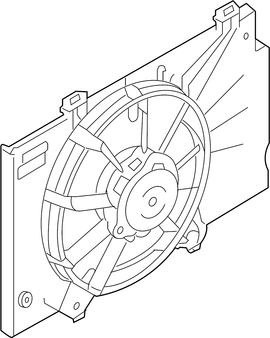 Ford Fiesta Engine Cooling Fan Assembly. Fan AND motor