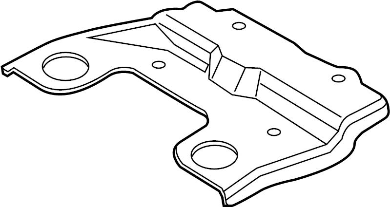 Ford Fiesta Battery Tray Brace. 2011-13. 2014-19