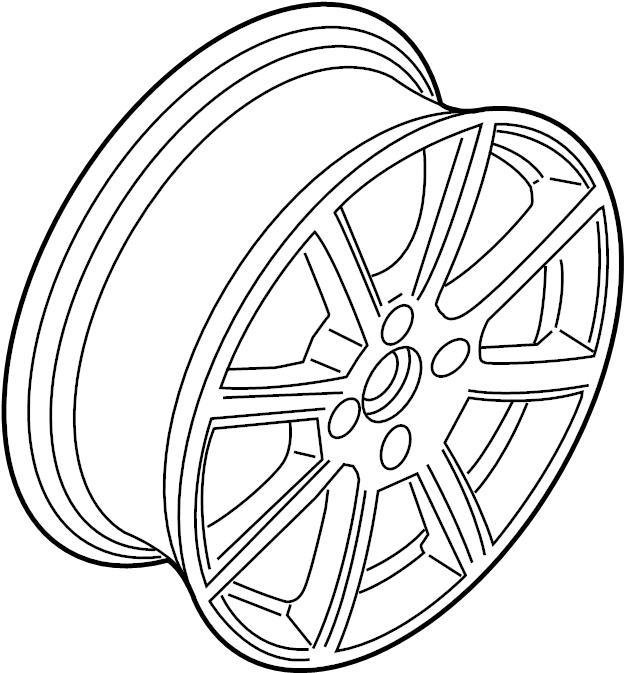 2016 Ford Fiesta Wheel assembly. Wheel, alloy. 16, type 4